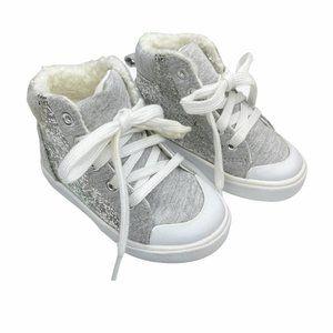 Gymboree Ice Dancer Silver Glitter High Top Sneake